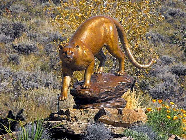 David R. Nelson - Colorado Artist and Sculptor - Bronze Cougar / Mountain Lion Sculptures