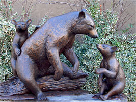 Bronze Bear Sculptures