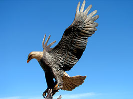 Monumental Bronze Eagle Sculptures